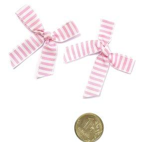 Бантики пришивные арт.MJ.RF.100.01 цв.01 розовый уп.1000шт фото