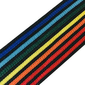 Лампасы №79 черный разноцветные полосы 3 см уп 10 м фото