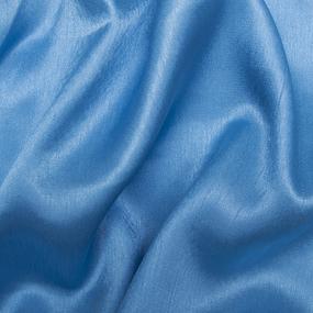 Ткань на отрез шелк искусственный 100% полиэстер 150 см цвет голубой фото