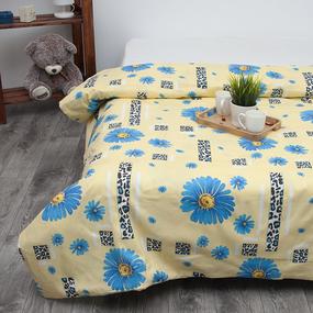Пододеяльник из бязи 184/1 Ромашки на поляне желтые, 1,5 спальный фото