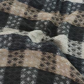 Плед Кресты 100% ПАН 500 гр цвет черный 150/210 см фото