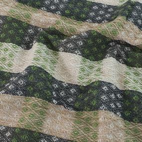 Плед Кресты 100% ПАН 500 гр цвет зеленый 150/210 см фото