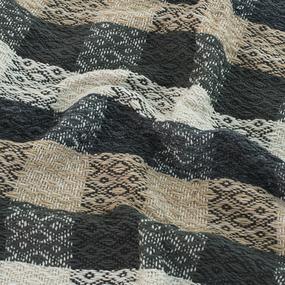 Плед Ромбы 100% ПАН 500 гр цвет черный 150/210 см фото