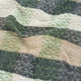 Плед Ромбы 100% ПАН 500 гр цвет зеленый 190/210 см фото