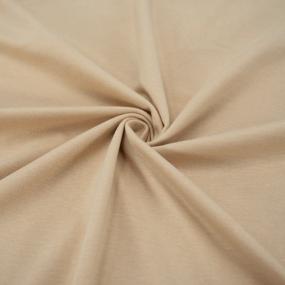 Ткань на отрез кулирка М-2024 цвет бежевый фото