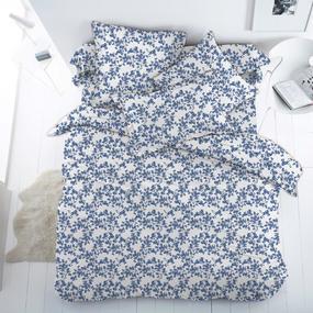 Ткань на отрез бязь 120 гр/м2 150 см 13153/5 Сакура цвет синий фото