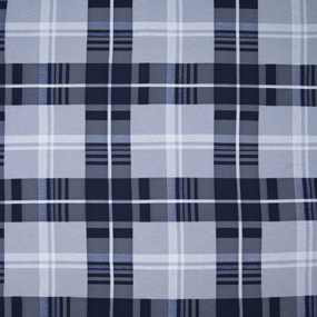 Ткань на отрез кулирка 2293-V1 Клетка цвет серый фото