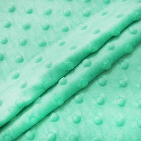 Мерный лоскут Плюш Минки Китай 180 см/95 см цвет мята фото