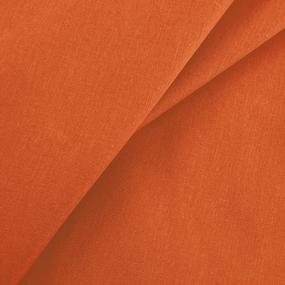Мерный лоскут бязь гладкокрашеная 120гр/м2 150 см цвет оранжевый фото