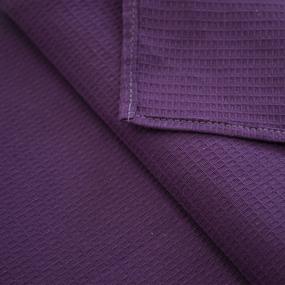 Полотенце вафельное 35/50 см цвет фиолетовый, петелька фото