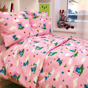 Бязь ГОСТ детская 150 см 315/2 Слоники розовый фото