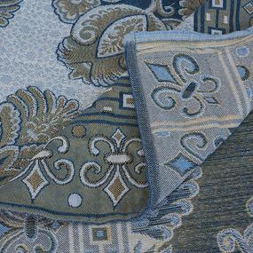 Покрывало гобелен Огурцы голубой 200/240 фото