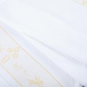 Полотенце махровое Sunvim 18В-3 Крестильное 65/135 см цвет белый фото
