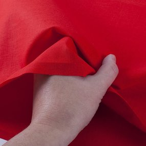 Ткань на отрез бязь ГОСТ Шуя 150 см 14010 цвет ярко-красный фото