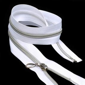 Молния 5 декор. бел/серебро 45 см фото