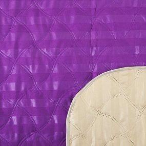 Покрывало ультрастеп двухстороннее цвет фиолетовый-бежевый 150/210 фото
