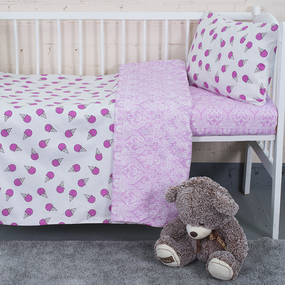 Постельное белье в детскую кроватку из бязи 1812/11+402/2 фото