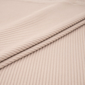 Ткань на отрез трикотаж лапша цвет капучино фото