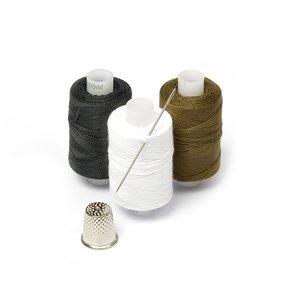 Нитки армированные 100ЛЛ 'Мастеровой' цв.хаки, белый, черный уп.3шт 200м, С-Пб фото