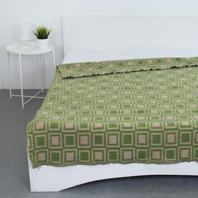 Одеяло полушерсть 500 гр/м2 цвет зеленый 190/200 см фото