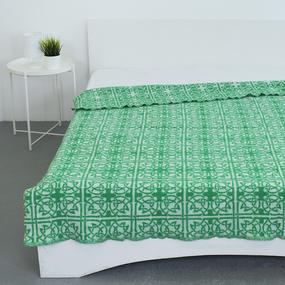 Одеяло п/ш жаккардовое 420 гр/м2 цвет кельт зеленый 190/200 см фото