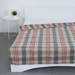 Одеяло полушерсть 420 гр/м2 цвет красный 190/200 см фото