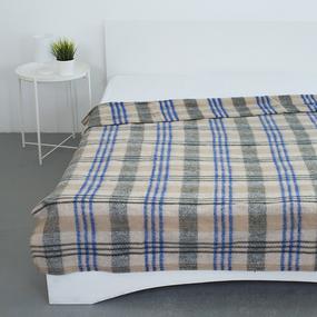 Одеяло полушерсть 420 гр/м2 цвет синий 190/200 см фото
