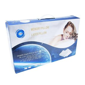 Подушка анатомическая с двумя валиками чехол п/э 50/30 цвет серый фото