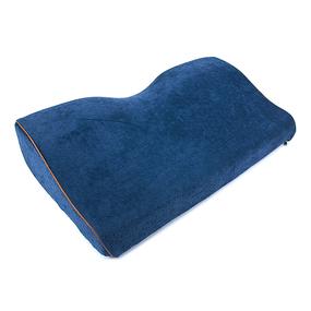 Подушка анатомическая с двумя валиками чехол п/э 50/30 цвет темно-синий фото