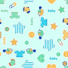 Ткань на отрез фланель 75 см 7065/3 Малышок цвет мята фото