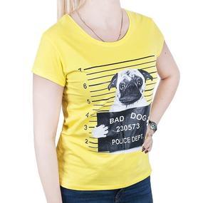 Футболка 1828 цвет желтый фото