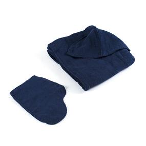 Набор для сауны мужской цвет темно-синий фото