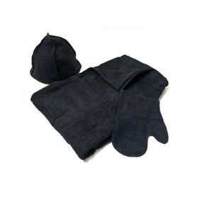 Набор для сауны мужской цвет черный фото