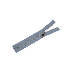 Молния металл №5ТТ никель н/р 18см D243 серый фото