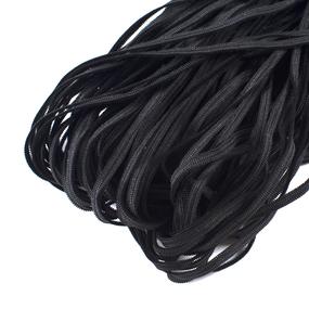 Резинка плоская вязаная 4 мм 50 м черная фото
