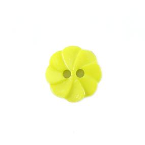 Пуговица детская на два прокола Розочка 13 мм цвет салатовый упаковка 24 шт фото