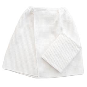 Набор для сауны вафельный Премиум мужской 2 предмета цвет белый фото
