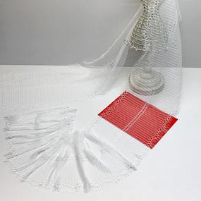 Кружево реснички 20см ХJ026-1 белый упаковка 3 м фото