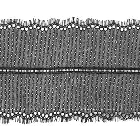 Кружево реснички 20см ХJ026-1 черный упаковка 3 м фото