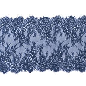 Кружево реснички 22см J062 синий упаковка 3 м фото