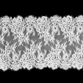 Кружево реснички 25см J062-1 белый упаковка 3 м фото