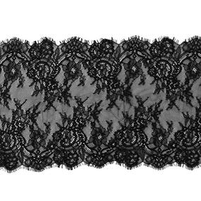 Кружево реснички 25см J062-1 черный упаковка 3 м фото