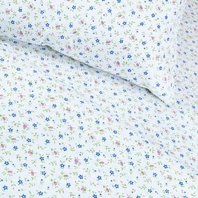 Постельное белье бязь эконом 361/2 Полянка цвет синий 1.5 сп с 1-ой нав. 70/70 фото