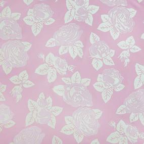 Ткань на отрез тик 220 см 85 +/- 5 гр/м2 Розы цвет розовый фото