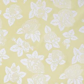 Ткань на отрез тик 220 см 85 +/- 5 гр/м2 Розы цвет жёлтый фото
