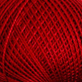 Нитки для вязания Ирис 100% хлопок 25 гр 150 м цвет 1204 бордо фото