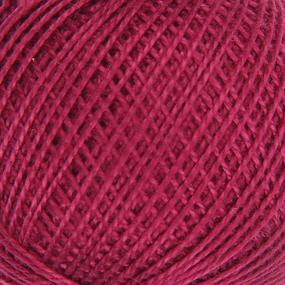 Нитки для вязания Ирис 100% хлопок 25 гр 150 м цвет 1206 свекольный фото