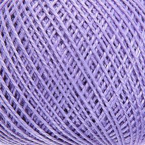 Нитки для вязания Ирис 100% хлопок 25 гр 150 м цвет 2306 сиреневый фото