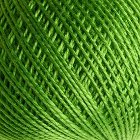 Нитки для вязания Ирис 100% хлопок 25 гр 150 м цвет 3910 зеленый фото