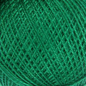 Нитки для вязания Ирис 100% хлопок 25 гр 150 м цвет 4110 зеленый фото